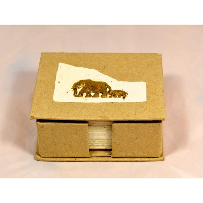 BRASS ELEPHANT BABY Zettelbox