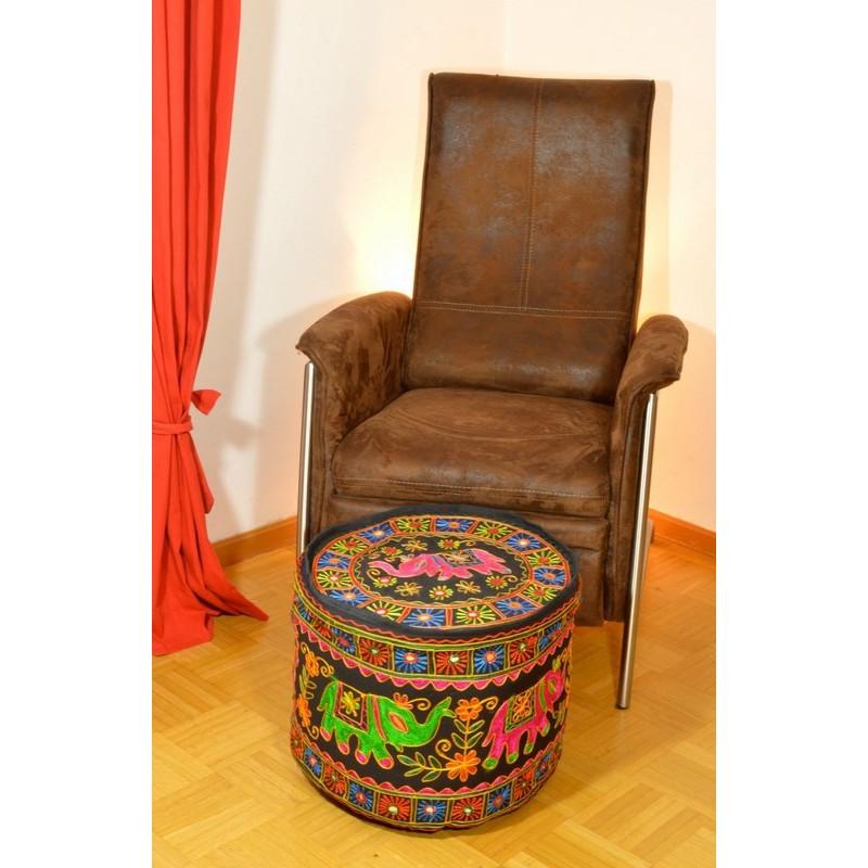 SINGLE ELEPHANT PUFF schwarzer Sitzkissenbezug