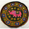 SINGLE ELEPHANT PUFF black seat puff cover