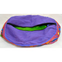 DOUBLE ELEPHANT PUFF purple seat puff cover