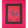 ELEPHANT DANCE bedspread / wall hanging pink