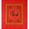 ELEPHANT DANCE bedspread / wall hanging red