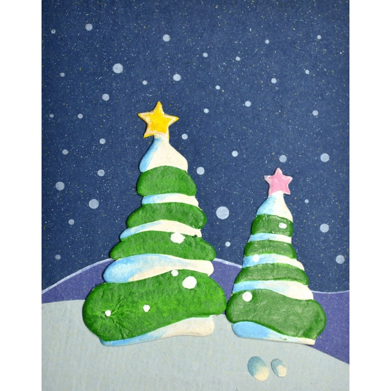 ELEPHANT DUNG CHRISTMAS TREE Christmas card