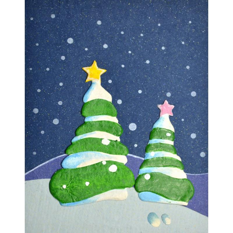 ELEPHANT DUNG CHRISTMAS TREE Weihnachtskarte