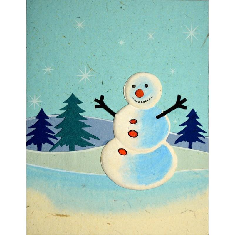 ELEPHANT DUNG SNOWMAN Weihnachtskarte