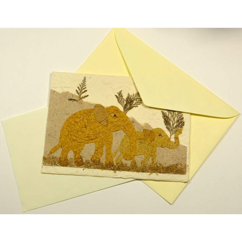 NATURE ELEPHANT 02 greeting card