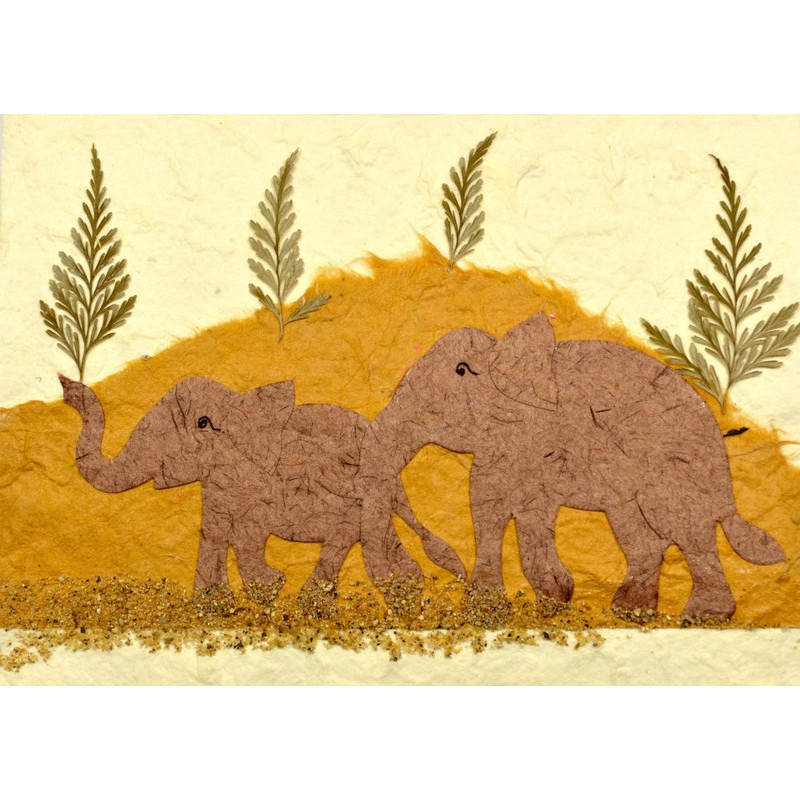 NATURE ELEPHANT 03 greeting card