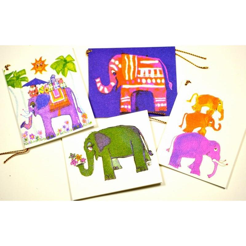 ELEPHANT PYRAMID gift tag