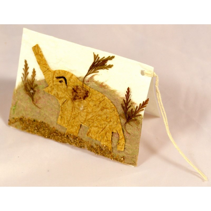 NATURE ELEPHANT 002 gift tag