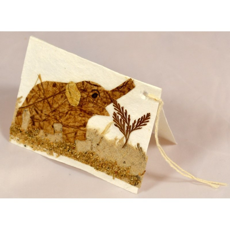 NATURE ELEPHANT 005 gift tag
