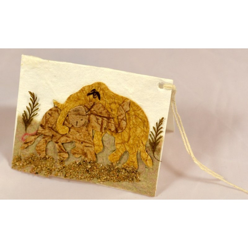 NATURE ELEPHANT 007 gift tag
