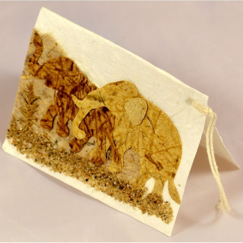NATURE ELEPHANT 011 gift tag