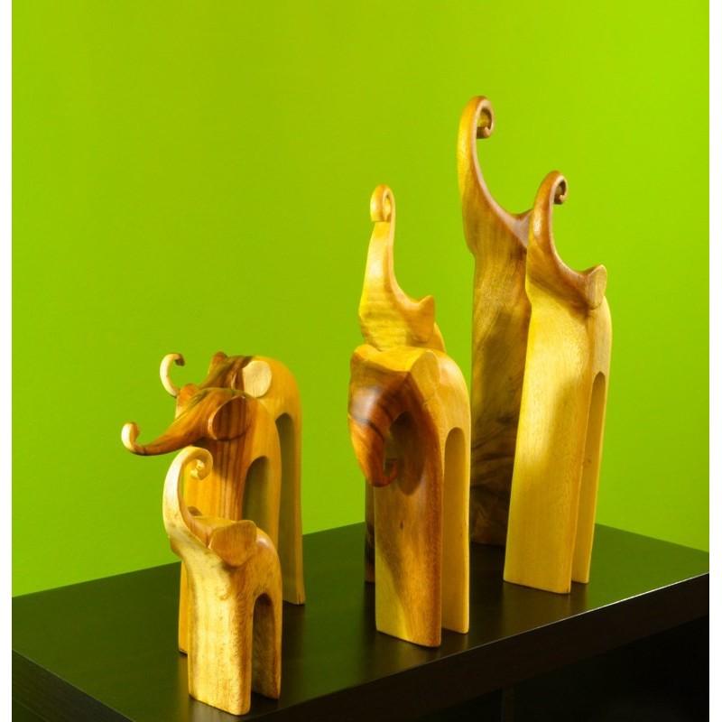 SEVEN ELEPHANTS ART wooden elephant set