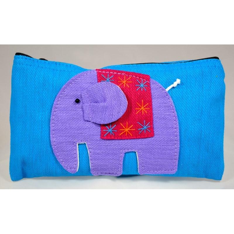 HAPPY ELEPHANT blauer Beutel