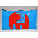 HAPPY ELEPHANT blue pouch