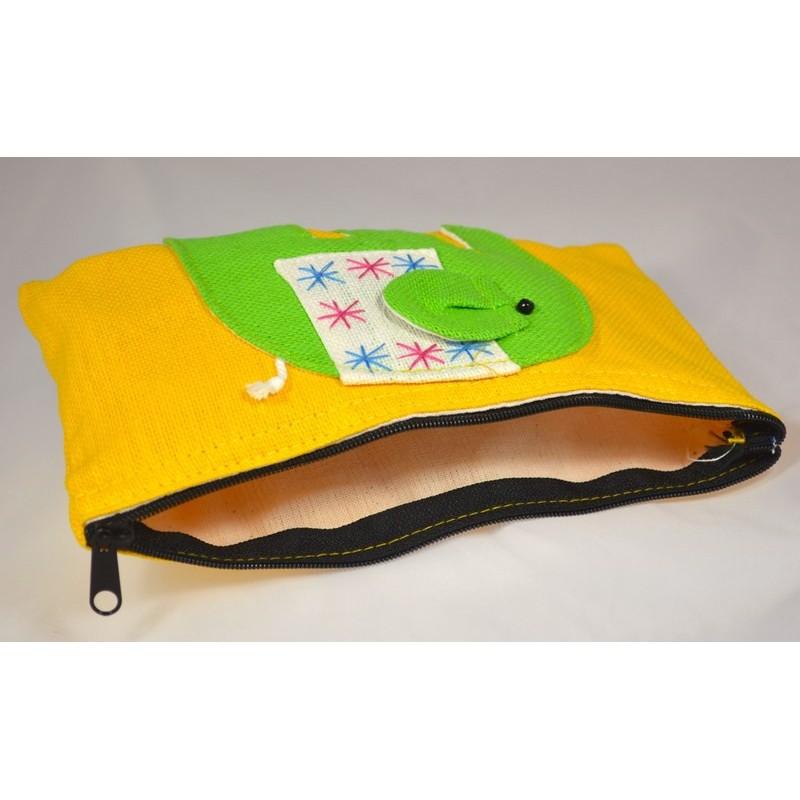 HAPPY ELEPHANT yellow pouch