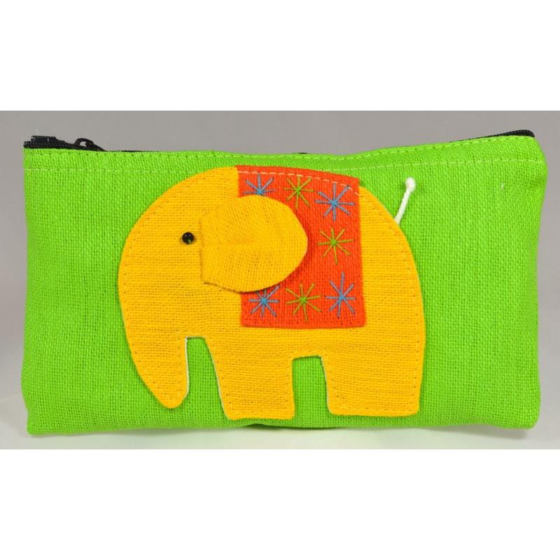 HAPPY ELEPHANT green pouch