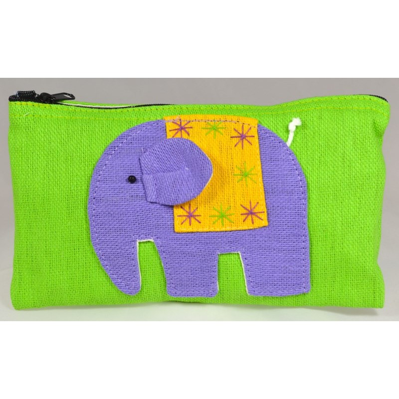 HAPPY ELEPHANT grüner Beutel