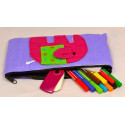 HAPPY ELEPHANT purple pouch