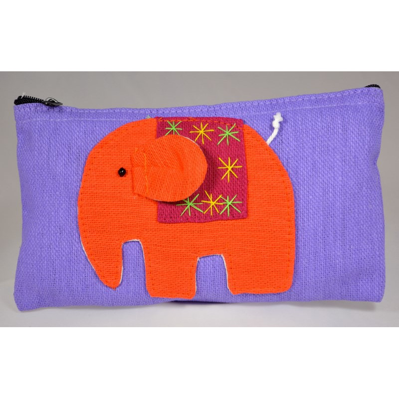 HAPPY ELEPHANT lila Beutel