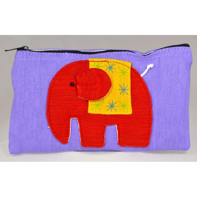 HAPPY ELEPHANT purple pouch
