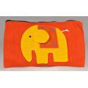 HAPPY ELEPHANT orange pouch