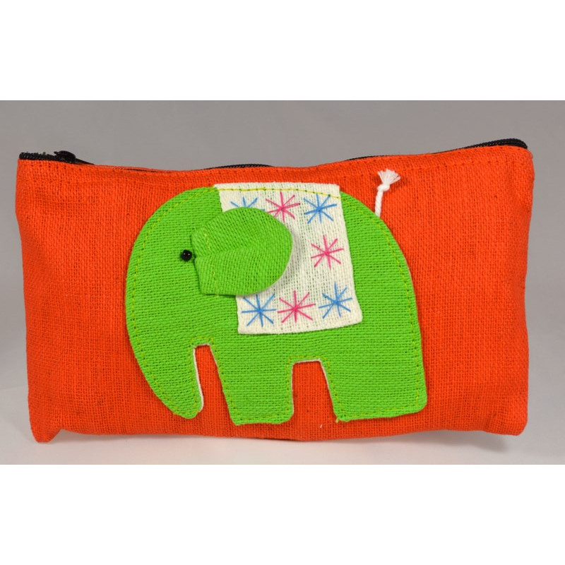HAPPY ELEPHANT orange pouch