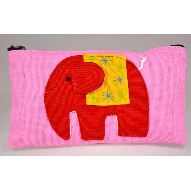 HAPPY ELEPHANT rosafarbener Beutel