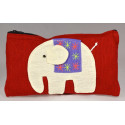 HAPPY ELEPHANT red pouch