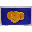BIG EAR ELEPHANT golden satin pouch