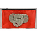 BIG EAR ELEPHANT red satin pouch