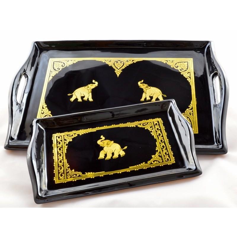 BURMESE SINGLE ELEPHANT tray