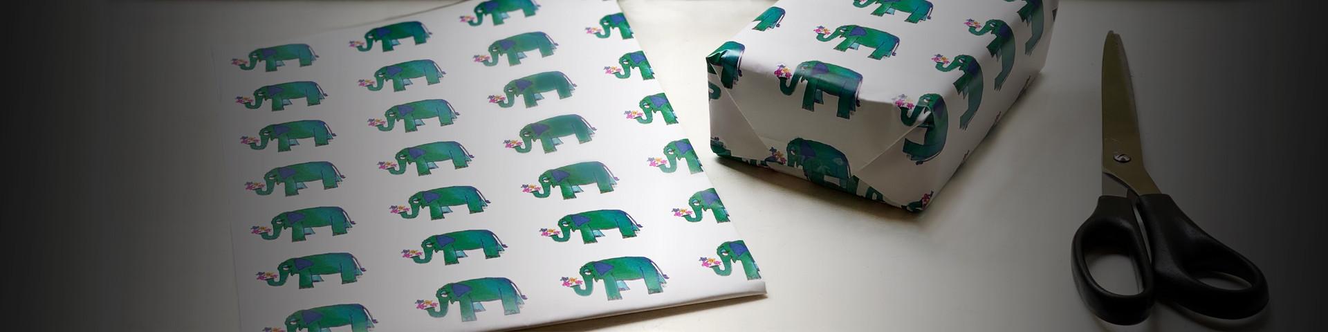 passende Geschenkverpackung für Elefantenliebhaber kaufen