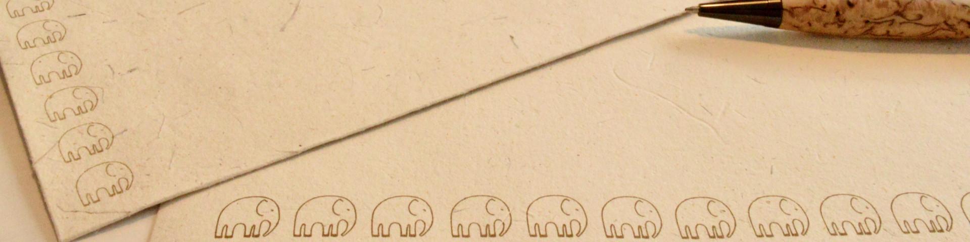 umweltfreundliche Papierwaren zum Schutz der Elefanten